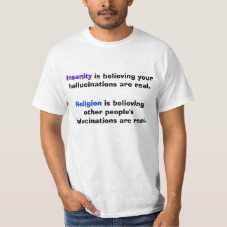 Insanity Vs. Religion T-Shirt