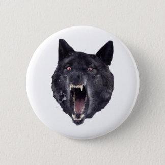 Insanity wolf 6 cm round badge