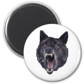 Insanity wolf 6 cm round magnet