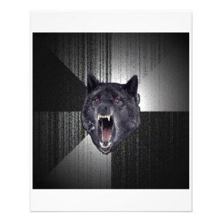Insanity Wolf Advice Animal Meme 11.5 Cm X 14 Cm Flyer