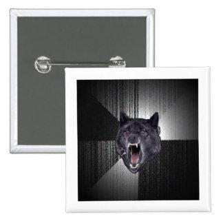 Insanity Wolf Advice Animal Meme 15 Cm Square Badge
