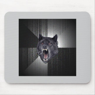 Insanity Wolf Advice Animal Meme Mouse Pad
