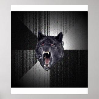 Insanity Wolf Advice Animal Meme Poster