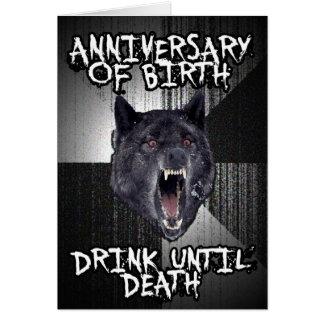 Insanity Wolf birthday card