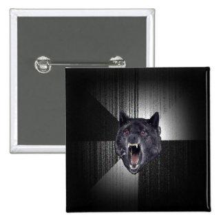 Insanity Wolf Meme Funny Memes Black Wolf 15 Cm Square Badge