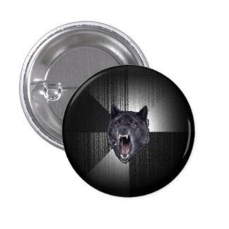 Insanity Wolf Meme Funny Memes Black Wolf 3 Cm Round Badge