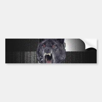 Insanity Wolf Meme Funny Memes Black Wolf Bumper Sticker
