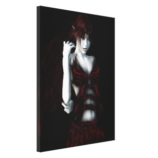 Insatiable Vampire Gothic Girls Pinup Art Canvas Prints