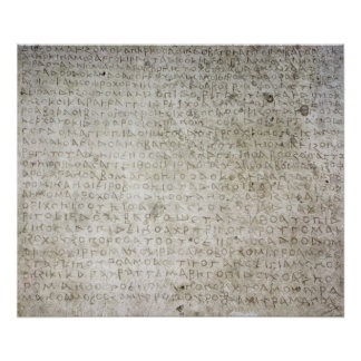 Inscription in the Kushana language written Poster
