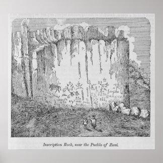 Inscription Rock, near the Pueblo of Zuni Poster