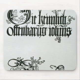 Inscriptions in Gothic script Mouse Mat
