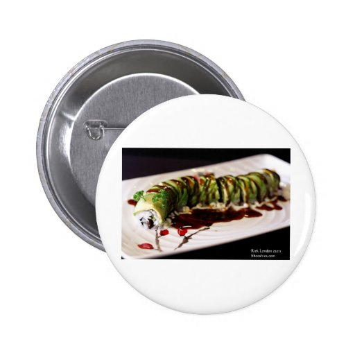 (Insect) Catipillar Sushi Gifts Tees & Collectible Pinback Button