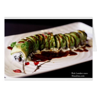 (Insect) Catipillar Sushi Gifts Tees & Collectible Greeting Card