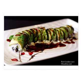 (Insect) Catipillar Sushi Gifts Tees & Collectible Postcard