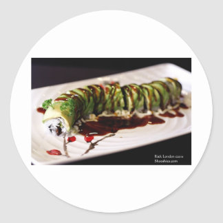 (Insect) Catipillar Sushi Gifts Tees & Collectible Round Sticker