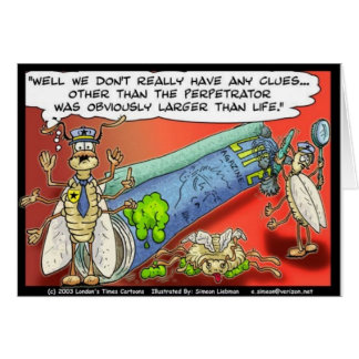 Insect Crimes Funny Gifts Tees & Collectibles Card