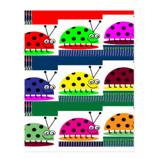 INSECT Ladybug Lady Bug Fantasy Artistic KIDS gift Postcard