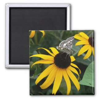 Insect on Flower Square Magnet