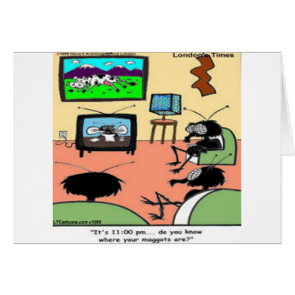 Insect Parents Funny Cartoon Card