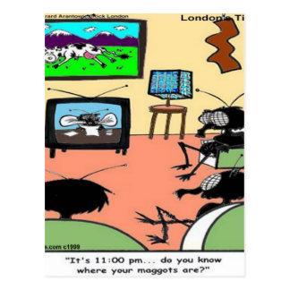 Insect Parents Funny Cartoon Postcard