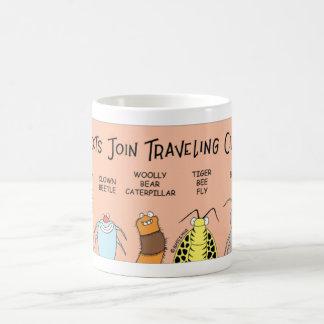 Insect traveling circus coffee mug