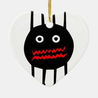Insects fun cool graphic spider ceramic heart decoration