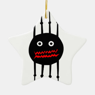 Insects fun cool graphic spider ceramic star decoration