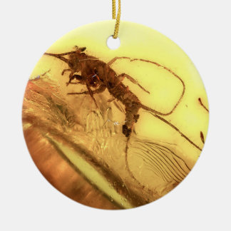 Insects in amber christmas ornament