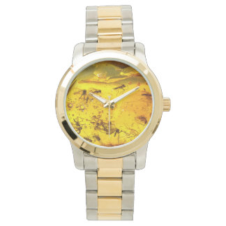 Insects in amber wristwatch