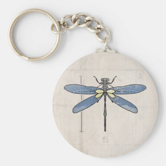 Insects Series- Dragonfly by VOL25 Basic Round Button Key Ring