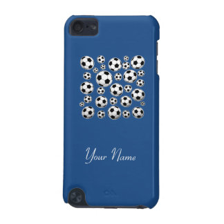 Insert Name - Classic Blue Soccer Ball iPod Touch (5th Generation) Cover