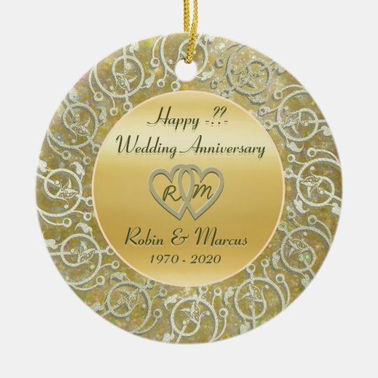 Insert Years Wedding Anniversary Christmas Ornament ...