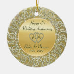 Insert Years Wedding Anniversary Round Ceramic Decoration