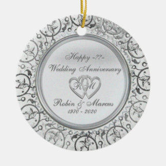 Insert Years Wedding Anniversary Ornaments