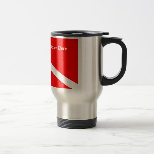 (Insert Your Name) Scuba Diver Travel Mug