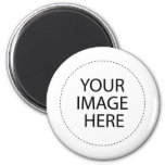 INSERT YOUR OWN DESIGN OR PHOTO 6 CM ROUND MAGNET