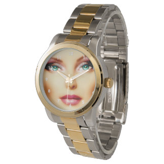 Insert Your Own Image Cool DIY IV Two-Tone Watch