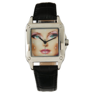 Insert Your Own Image Cool DIY Square Black Watch