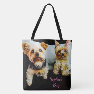 Insert Your Pet's IMAGE Here Personalized Photo Tote Bag