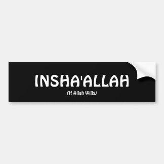 INSHA'ALLAH Bumper Sticker