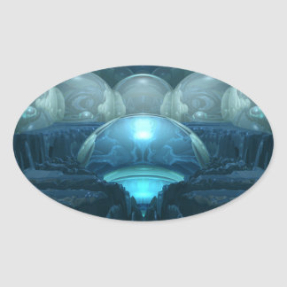 Inside A Blue Moon Oval Sticker