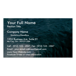 Inside a breaking wave pack of standard business cards