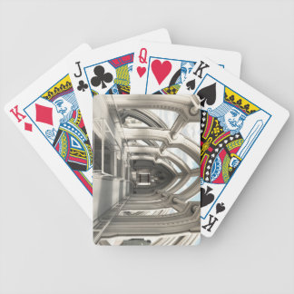 Inside a Future City Bicycle Playing Cards