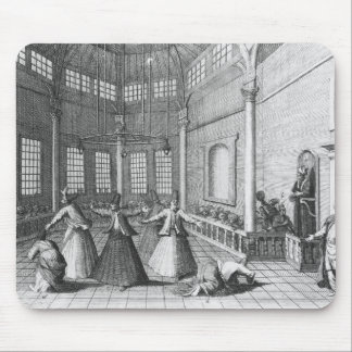 Inside a Turkish Mosque, illustration Mouse Mat
