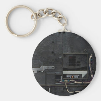 Inside electronic machine basic round button key ring