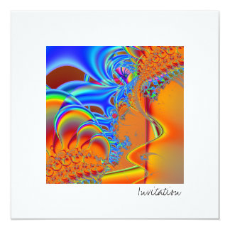 Inside I · Fractal Art · Blue & Orange Card