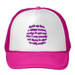 Inside me lives a skinny person mesh hat