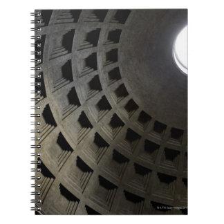 Inside of Pantheon Spiral Notebook