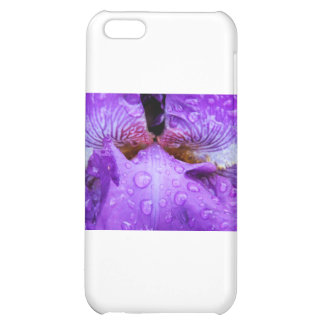 Inside of Purple Iris with water dropplets Cover For iPhone 5C