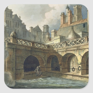 Inside of Queen's Bath, from 'Bath Illustrated by Square Sticker